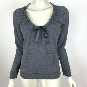 Lululemon Long Sleeve Hoodie Solid Gray Round Neck